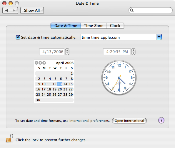 how to change date and time mac