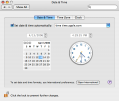 Mac OS X Date & Time Preferences