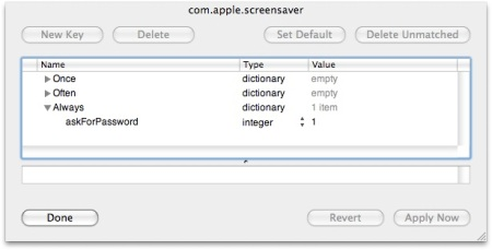 com.apple.screensaver managed preferences