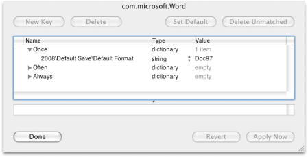 Word 2008 managed prefs